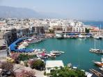 The pretty Kyrenia harbour -dine or people watch!