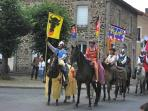 Richard the Lionheart festival in Chalus