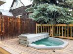 You'll want to hop in the private hot tub on the deck after a grueling day on the slopes.