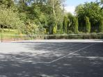 Anyone for tennis.  All-weather court resurfaced 2013
