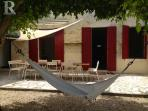Dining terrace and hammock