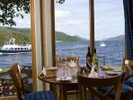The Boathouse restaurant on site has superb views of Loch Ness