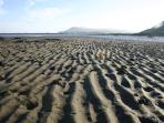 The large low tide beach directly across from the caravan is great for ball games and kites and more