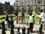 Kids love the giant lawn chess