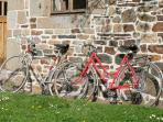 BIkes for all guests to borrow. The property is moments from a Veloscenic cycle path.