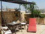 The terrace with lots of options for al fresco dining and relaxing