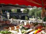 market on the river in Brantome popular with the locals &some lovely restaurants or make a picni