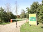 Entrance to Thorpe Park Lodges