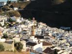 View over Competa from balcony