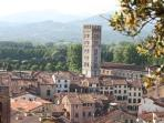 Lucca and surrounding hills