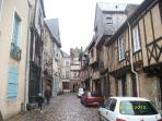 Mediaeval town of Domfront- about 45 mins away.