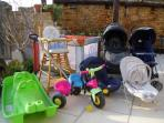 Some of our young children equipment, there's also an inflatable paddling pool!