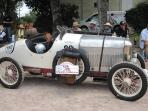 Retro race Le Puy Notre Dame.Last weekend in July, cars and motor bikes race around the town.