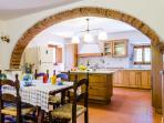The brand new gourmet kitchen complete with everything necessary to make a Tuscan feast!