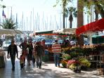 Bandol Harbor: Market day