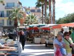 Bandol Harbor: Market day