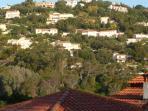 view from villa kitchen