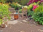 Seating area within garden - beautiful garden