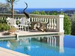 Magnificent sea and countryside views from the pool and terraces