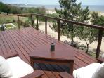 upstairs deck with seaview