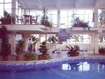 Hotel indoor pool and spa