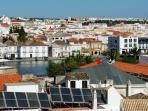 Tavira view from a hill