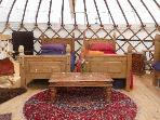 Interior - white yurt