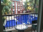 View of pool from Master Bedroom balcony