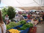 It's market day on Sundays, when you can buy lovely local fresh fruit & veg, and lots more.