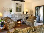 Comfy seating for everyone. Cosy up to the fire. Logs supplied in the colder months