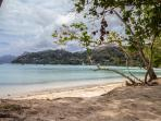 few minutes walk from your villa to anse la mouche beach