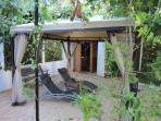 Part terrace & Sauna