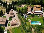 Aerial view of the whole property PODERE LE RONDINI