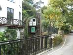 Cliff Railway to Lynmouth Harbour - 5 mins walk away