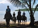 Santo Horse Adventures take you through untouched pristine beauty See Santo on horse back