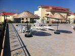 The terrace by the pool has spectacular views across Akbuk bay and the olive trees surrounding you