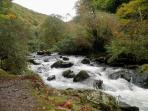 Lovely riverside walks nearby such as Watersmeet