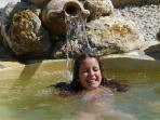 Nerea enjoying the pool.
