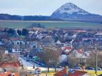 Gullane Village with Berwick Law in the distance