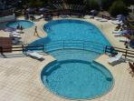Swimming pool is 400 meters away from the house...with cafe and bar + snacks...