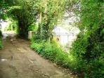 The lane leading to the house