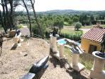 Sculpture garden in private woodlands