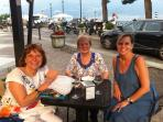 Evening drinks in Menaggio after exploring the arts and crafts market held on Fridays