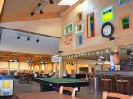 Local 10 pin bowling,pool tables and childrens play close by with bar and restaurant on site