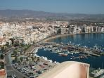 Aguilas Port from Castle of St John