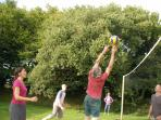 Edward playing Volleyball with a keen team from Germany.