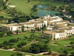 View of the hotel and one of the 3 golf championship course.