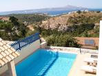 Villa Orocco Pool and View from the Roof Terrace