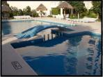 The swimming pool, kids and adults area