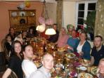 To prove our table 'comfortably seats 12'!! (actually 20) - our daughter's 30th birth